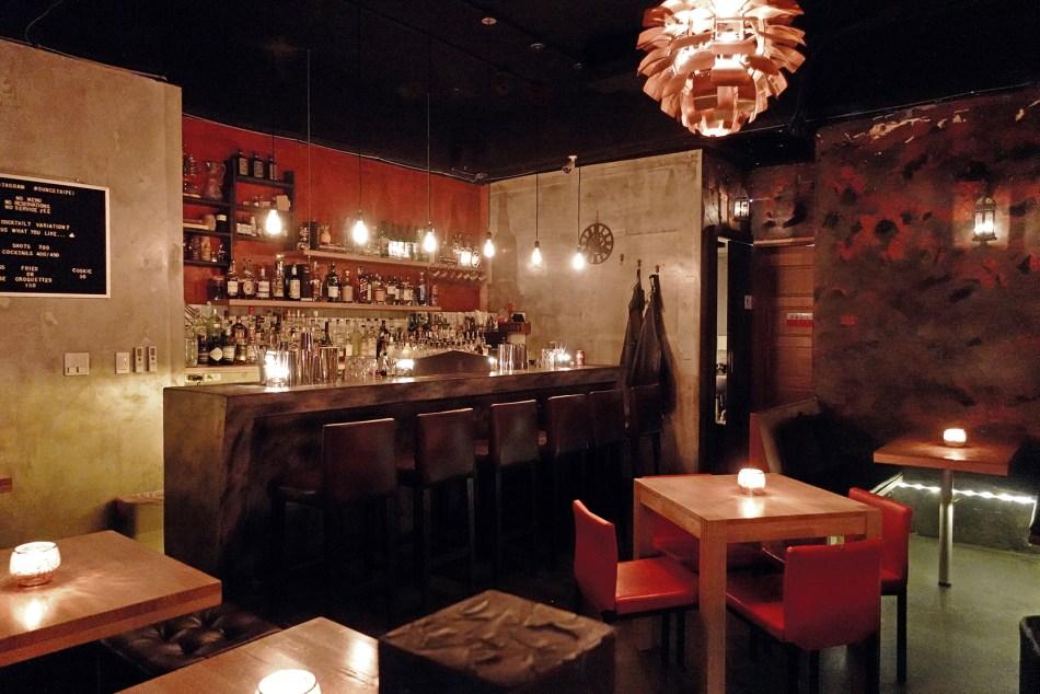 At the bar at Ounce Taipei