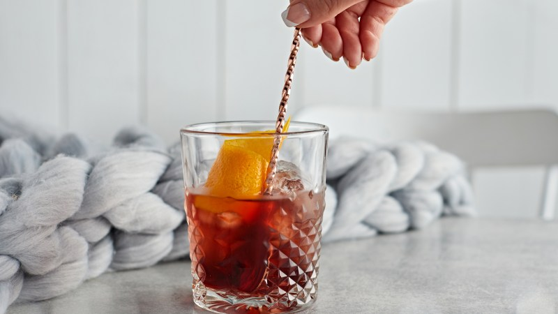 Slingsby Gin Blackberry Negroni cocktail