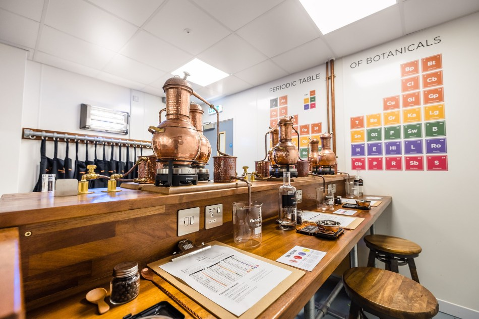 The gin school at Hensol Castle Distillery in Wales
