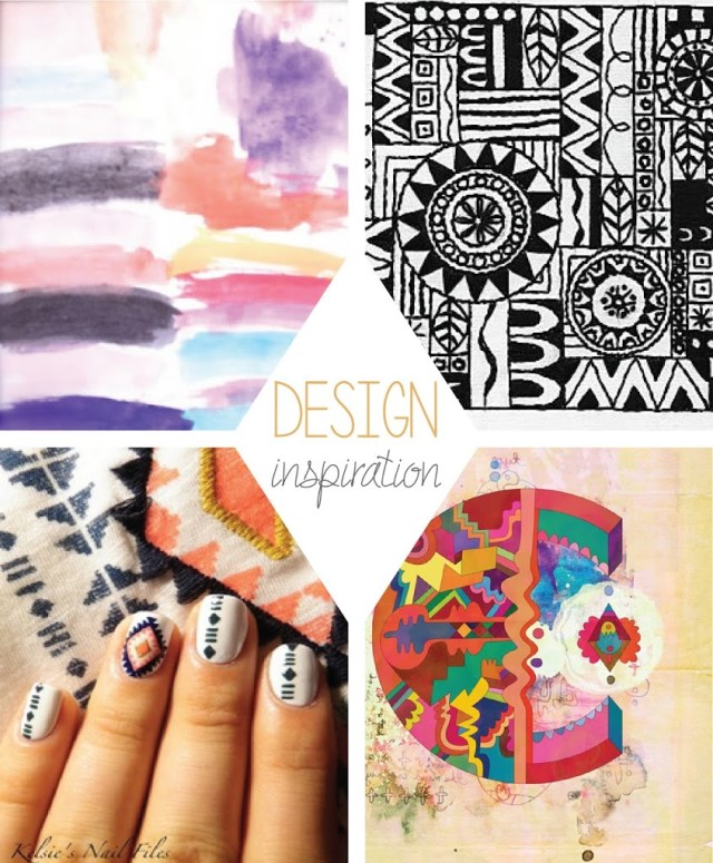 Tribal Watercolor Design inspiration
