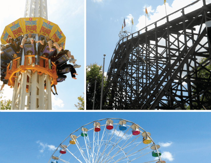 Knoebels Amusement Park Phoenix Ferris Wheel and more Rides