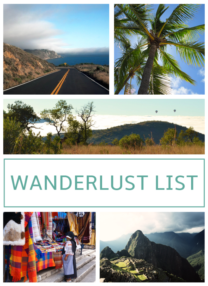 Wanderlust Travel Bucket List