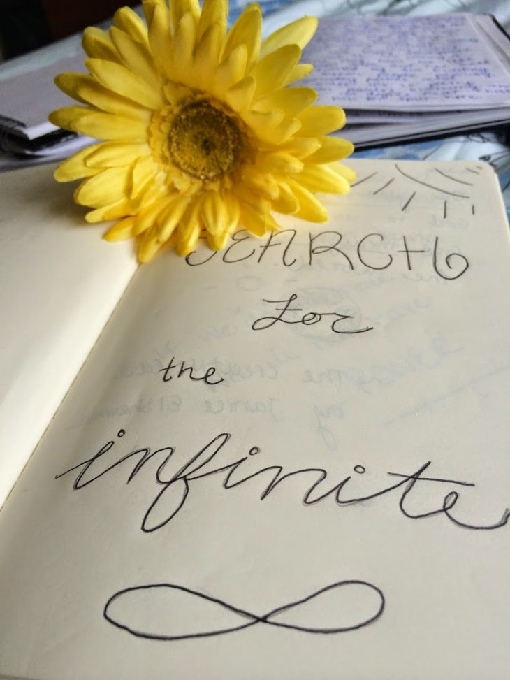 The Search for the Infinite | Writing Process