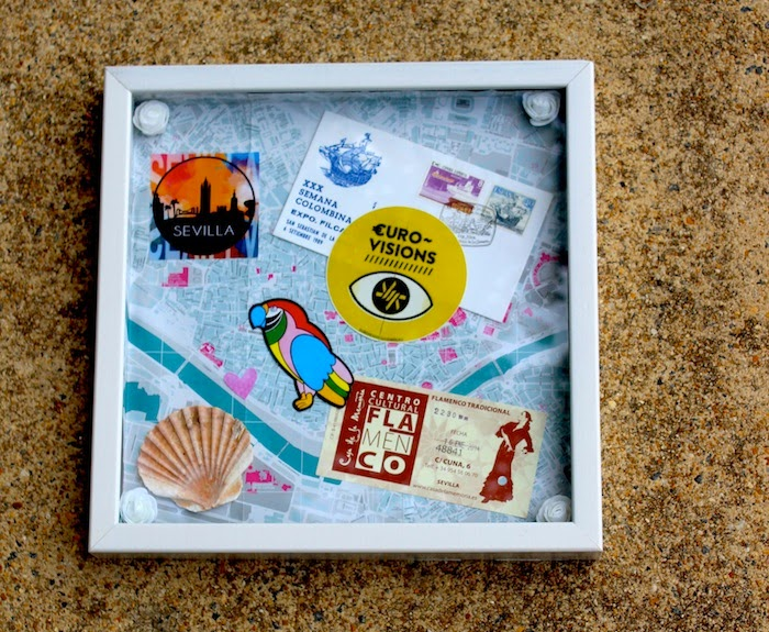 DIY Travel Collage Wall Art