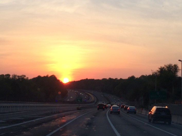 Sunset on the Highway | College Road Trip