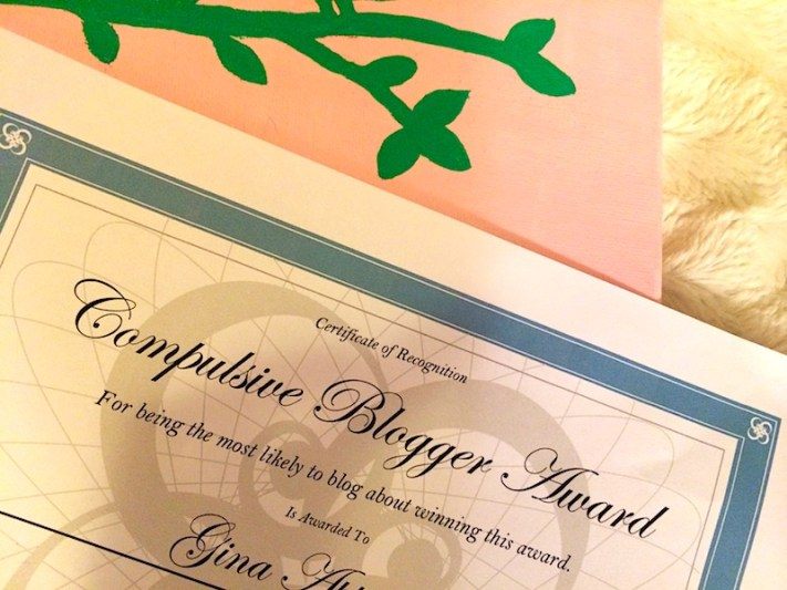 The Compulsive Blogger Award