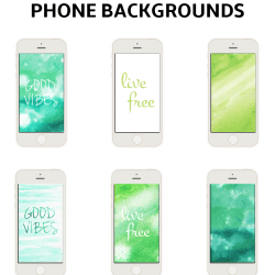 Hand Painted Watercolor Phone Wallpapers