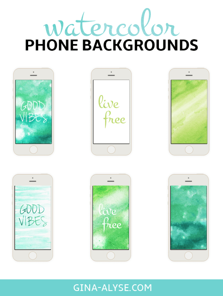 Watercolor iPhone Backgrounds