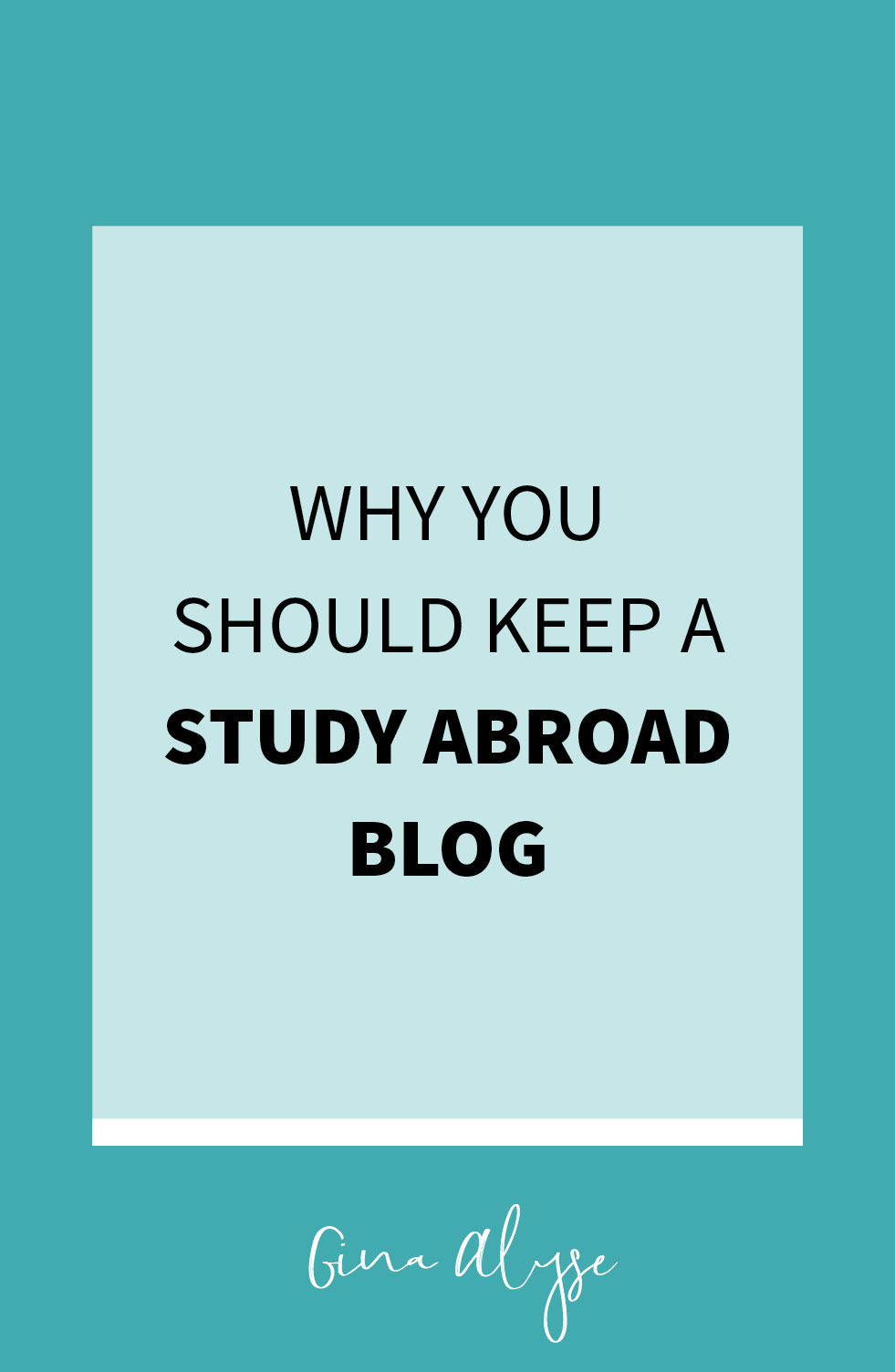 Why Keep a Study Abroad Blog