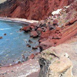 Discover The Red Beach in Santorini, Greece