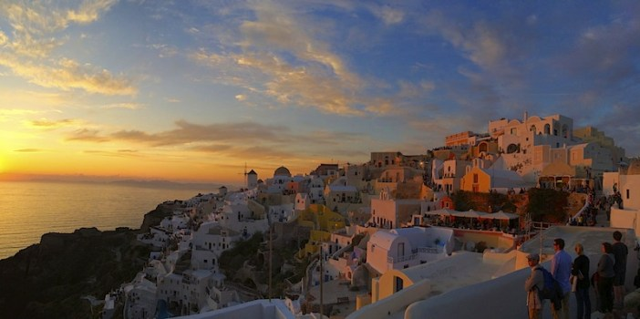 Sunset in Oia Panoramic