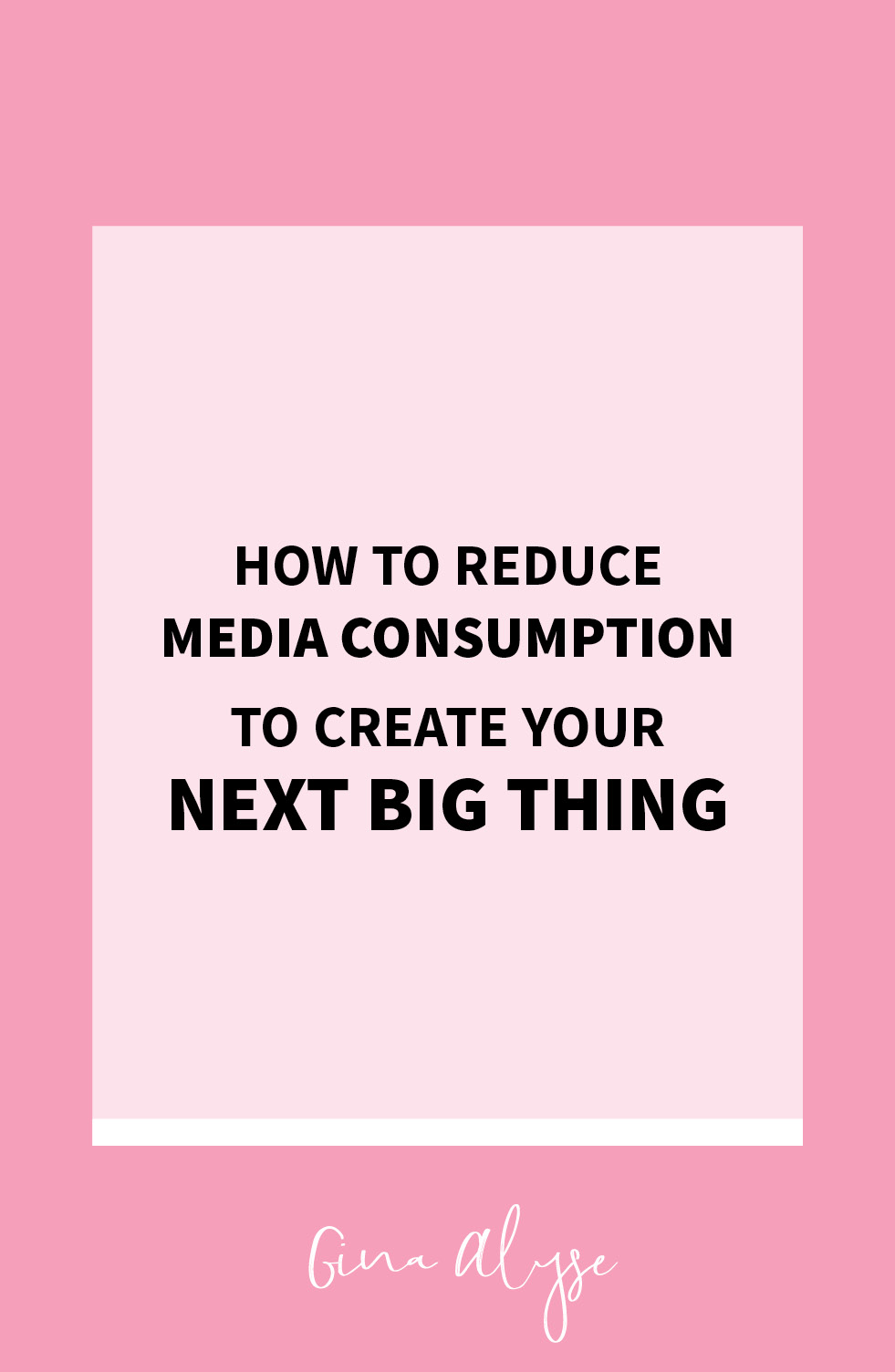 How to Reduce Media Consumption