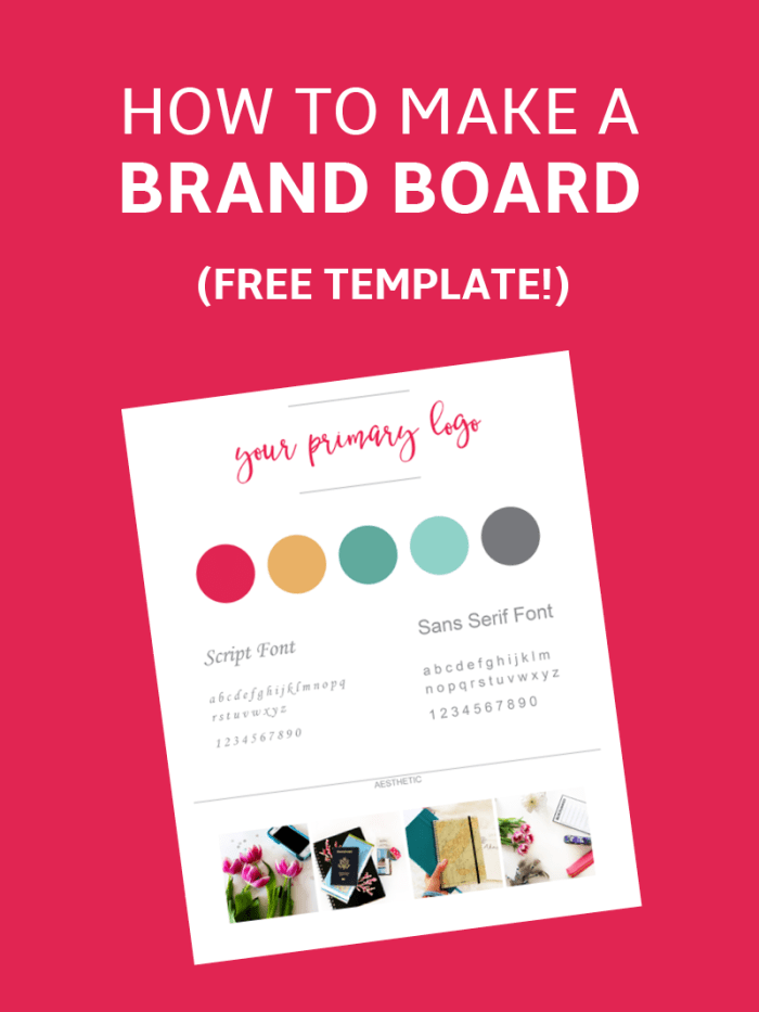 How to Make a Brand Board (Template)