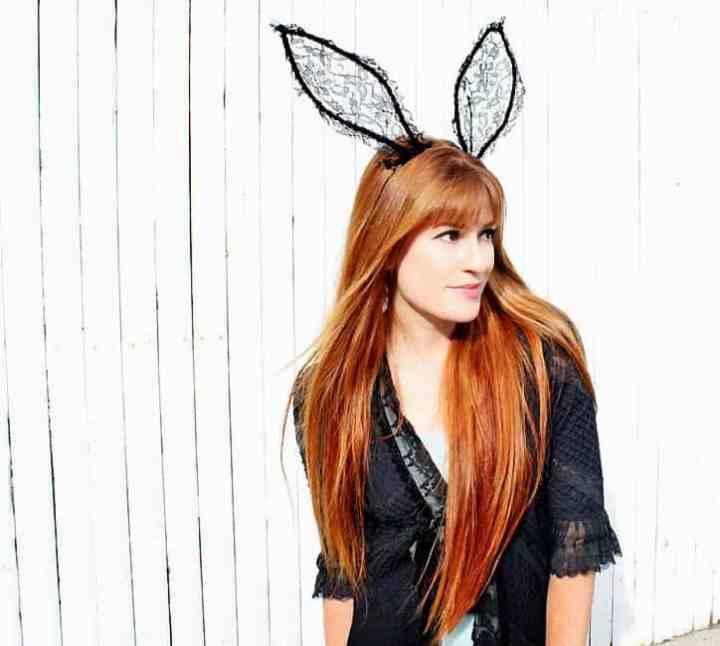 DIY Lace Halloween Bunny Ears