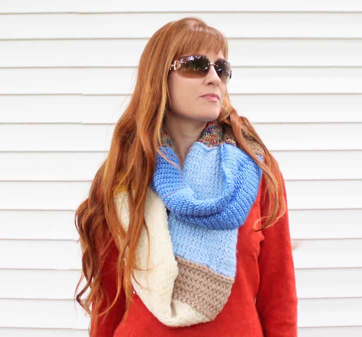 Leftover Yarn Infinity Scarf Knitting Pattern Gina Michele