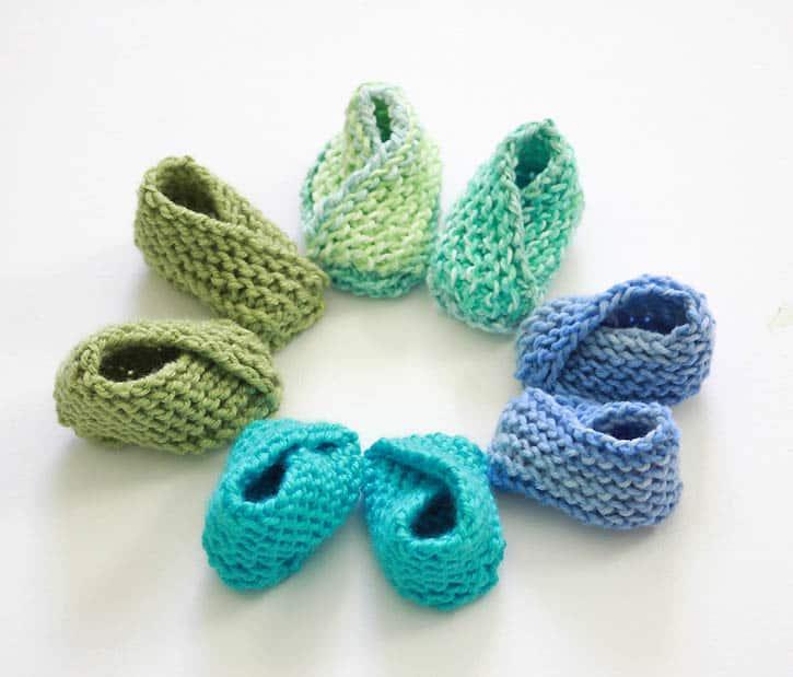 fa94ac0e7ca Knitting Pattern for the Easiest Baby Booties Ever by Gina Michele