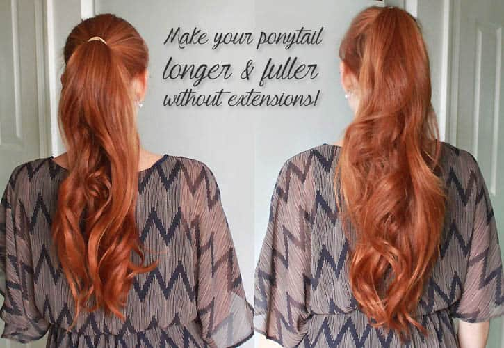 Make Your Ponytail Look Longer And Fuller Without Extensions Gina