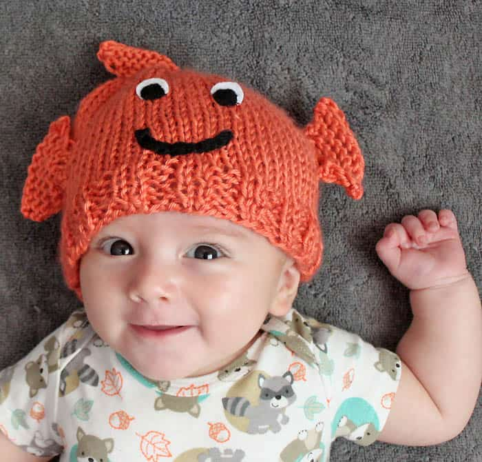 Baby Goldfish Hat Knitting Pattern Gina Michele