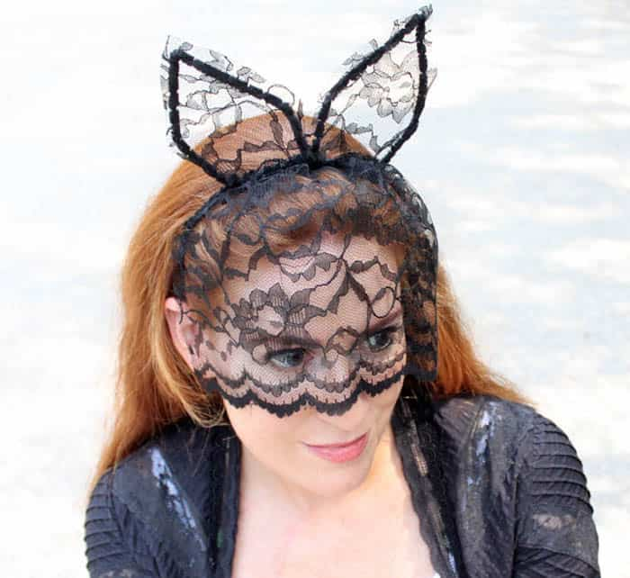 DIY Veiled Cat Ear Headband
