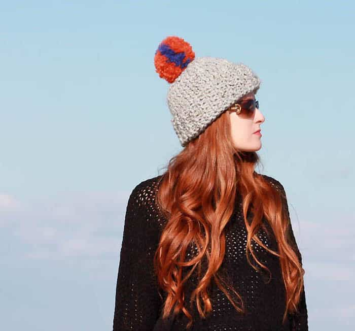 Eugenia Kim Chunky Hat Knitting Pattern by Gina Michele