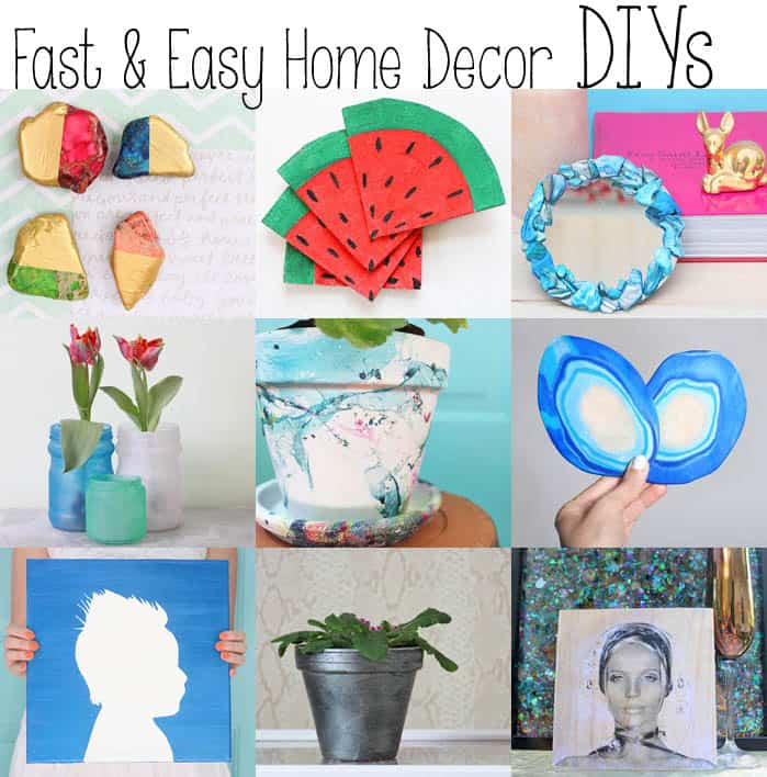 10 Fast & Easy Home Decor DIYs
