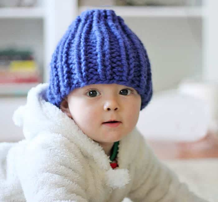 Easy Baby Beanie Knitting Pattern Gina Michele