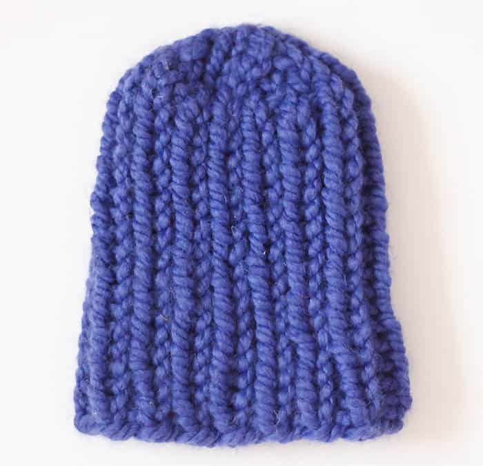Baby Ribbed Hat Free Knitting Pattern
