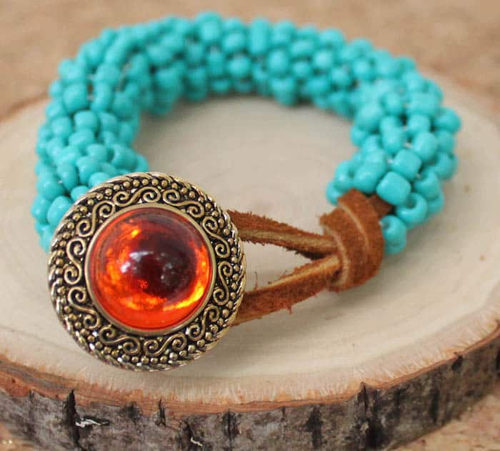 DIY Tory Burch Wrapped Turquoise Leather Bracelet