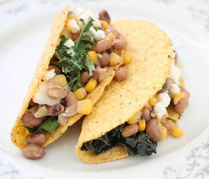 Fully Loaded Vegetarian Black Eyed Pea Tacos