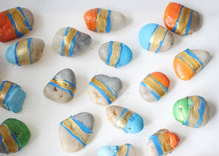 DIY Painted Vase Filler Stones