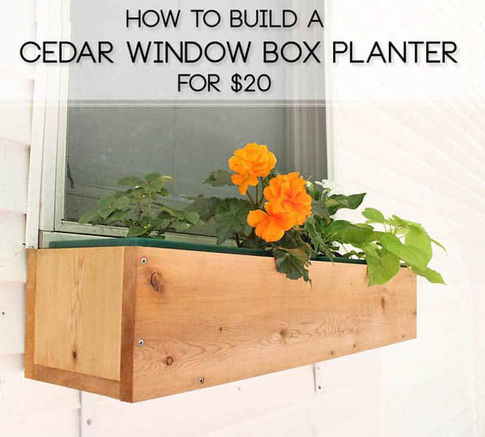 How to Build a Cedar Window Box