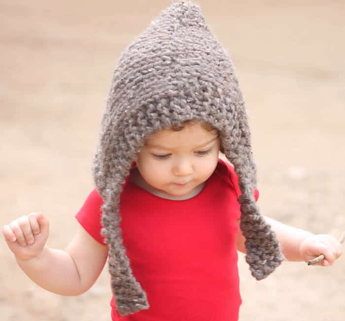 Child Woodland Hood knitting pattern