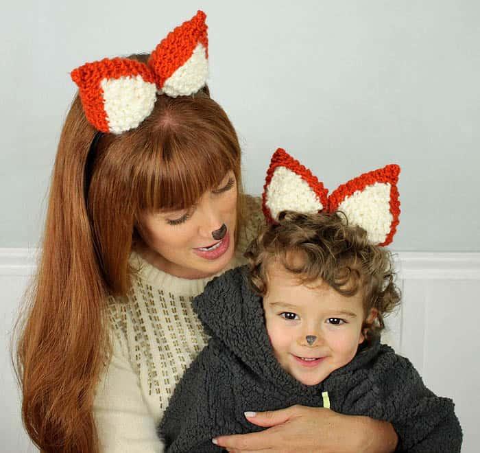 Halloween Fox Ears [knitting pattern]