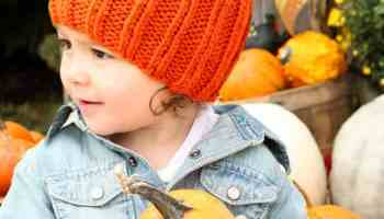 Toddler   Kids Pumpkin Hat Free Knitting Pattern - Gina Michele 167dfc5702a