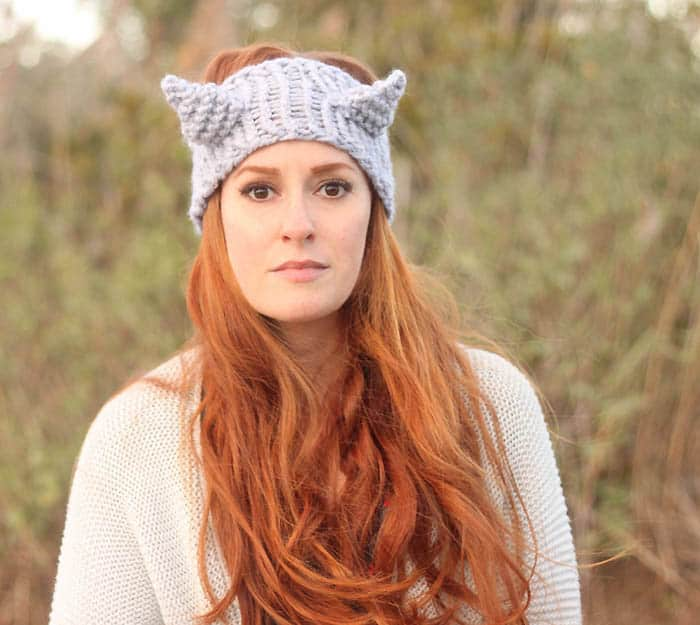 Eugenia Kim Cat Headband Knitting Pattern Gina Michele