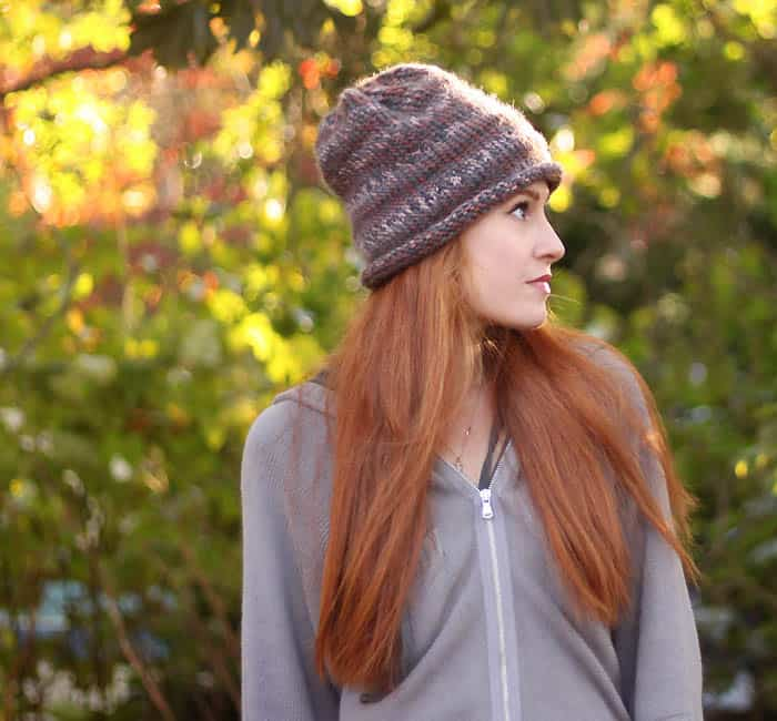Free Classic Slouch Beanie Knitting Pattern