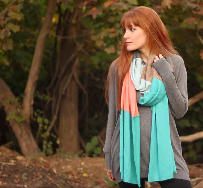How to Make a Scarf From Old Sweaters