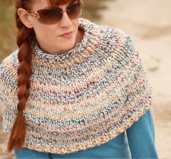 Fog Chaser Cape Free Knitting Pattern