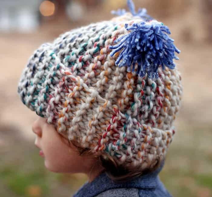 Flat Knit Garter Stitch Hat Knitting Pattern Super Easy Gina Michele