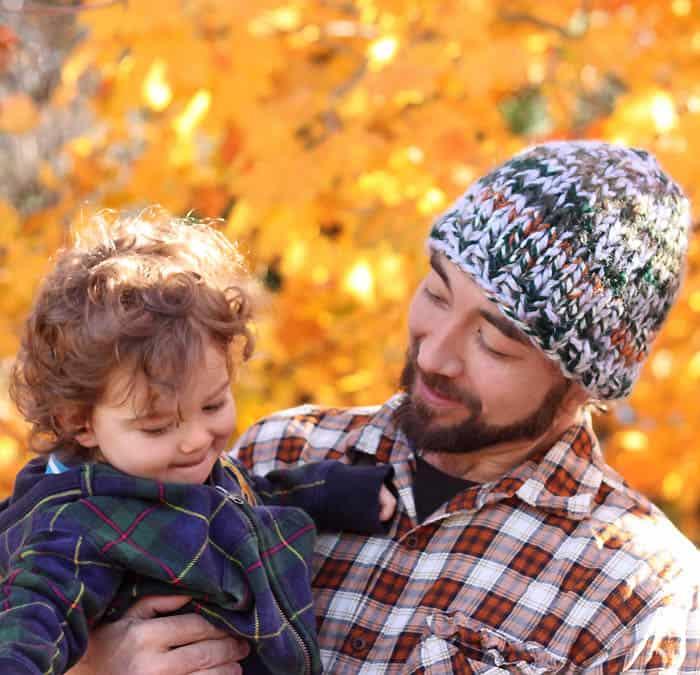 Free Knitting Pattern mens triple knit chunky hat