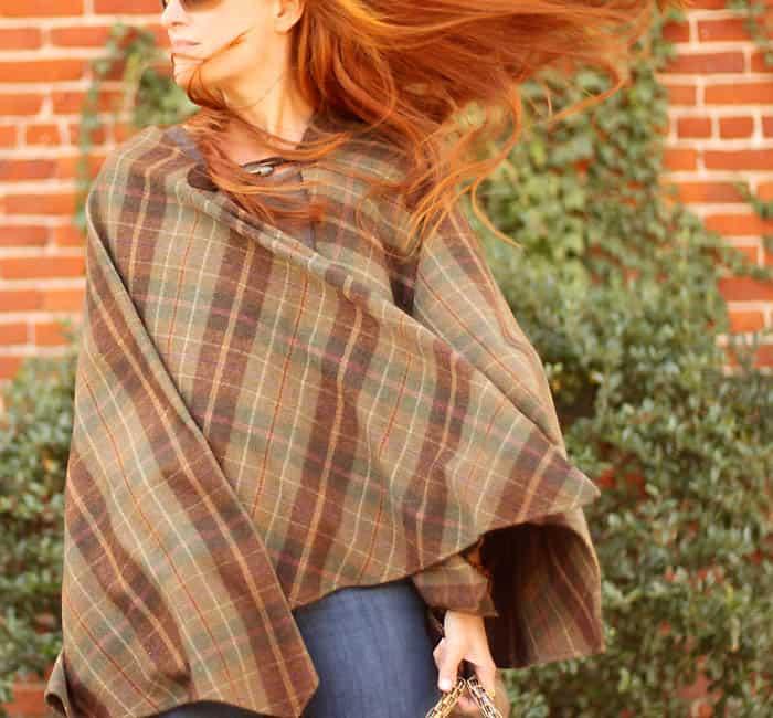 Fall outfit- vintage Ralph Lauren Cape