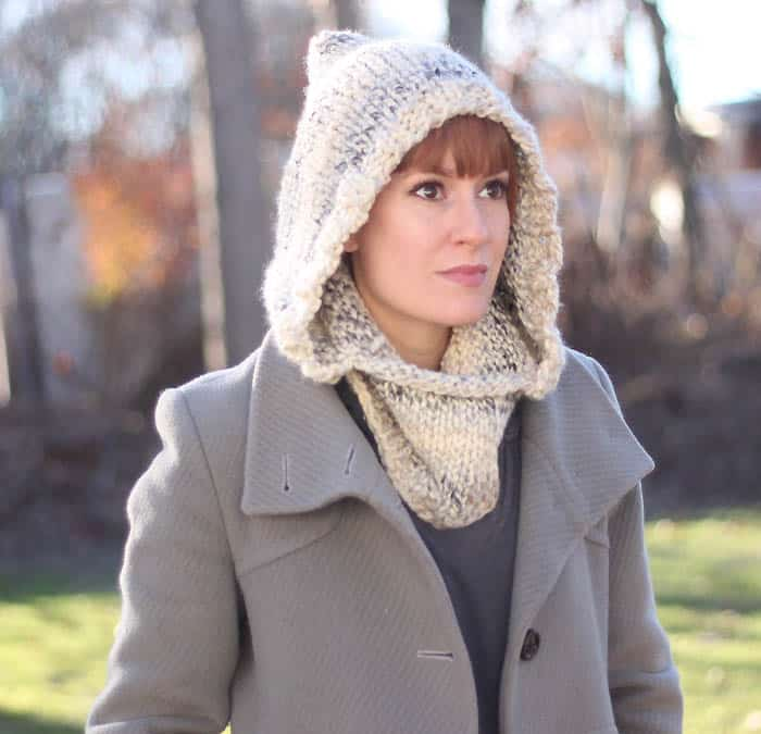 Easy Hooded Cowl Knitting Pattern Gina Michele Extraordinary Hooded Cowl Pattern