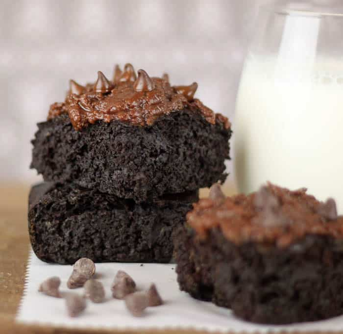 Healthier Zucchini Brownies with Easy Frosting