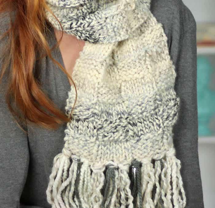 Basketweave Scarf Free Knitting Pattern Gina Michele