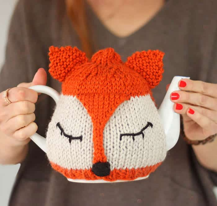 Fox Tea Cosy Free Knitting Pattern and Tea Proudly with Bigelow Tea