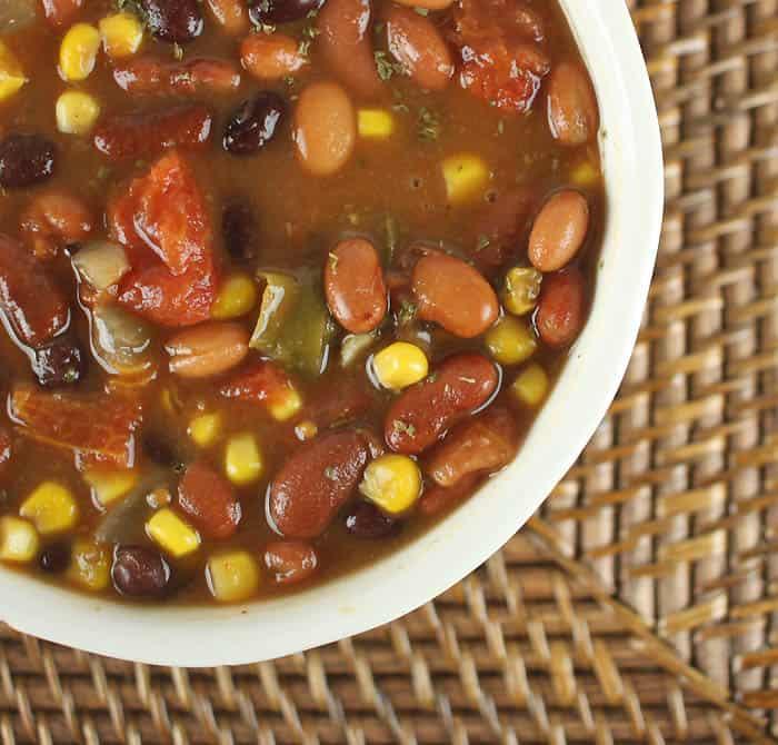 Slow Cooker Vegan 3 Bean Chili