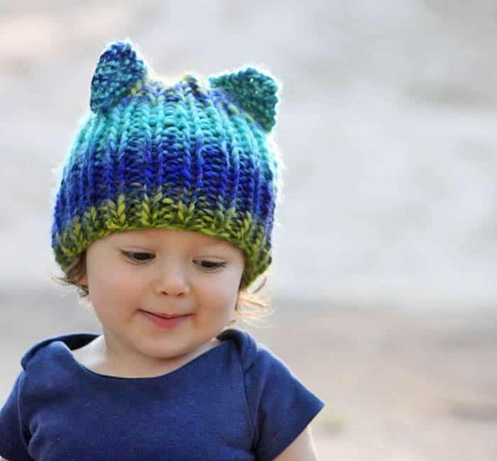 Bear Ear Hat Knitting Pattern 2017