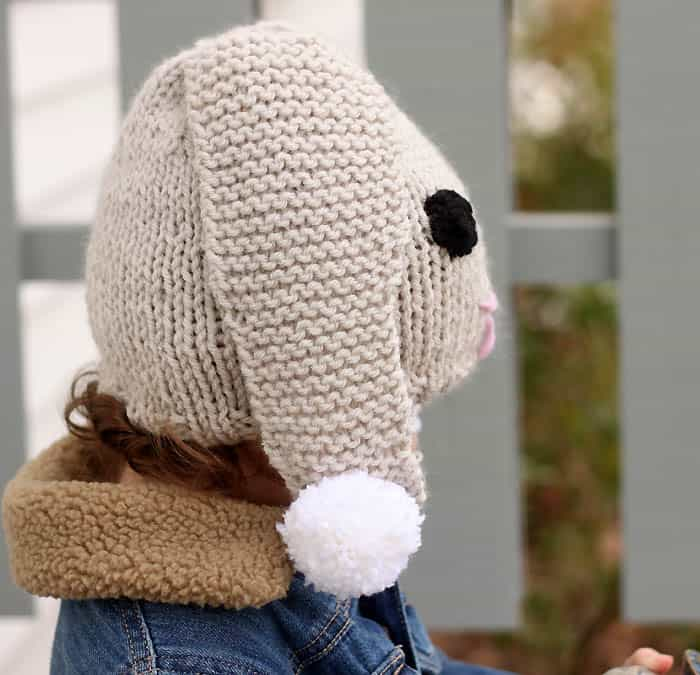 Bunny Baby Hat Free Knitting Pattern