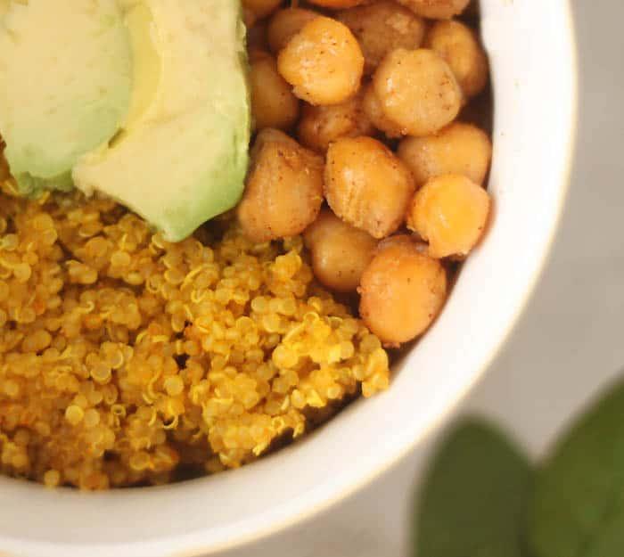 Turmeric Quinoa Vegan Power Bowl
