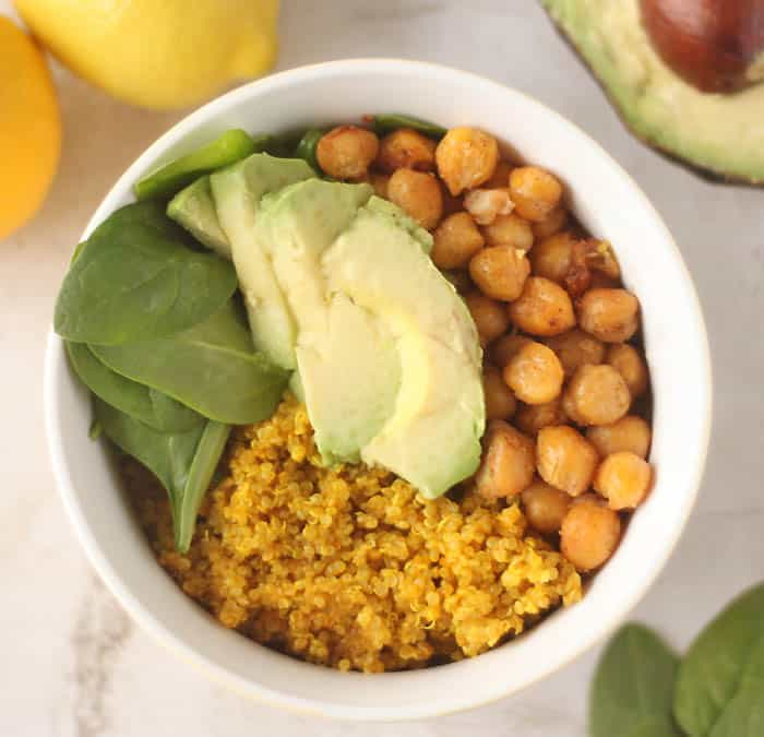 Turmeric Quinoa Vegan Power Bowl